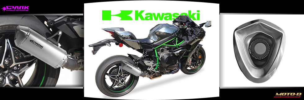 high end titanium exhaust for kawasaki