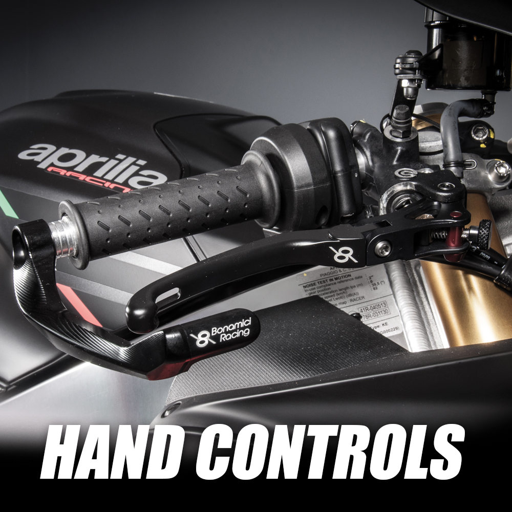 bonamini hand controls include clip-ons, levers and lever guards