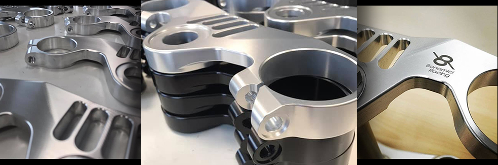 Bonamici Top Triple Clamp is CNC Machined