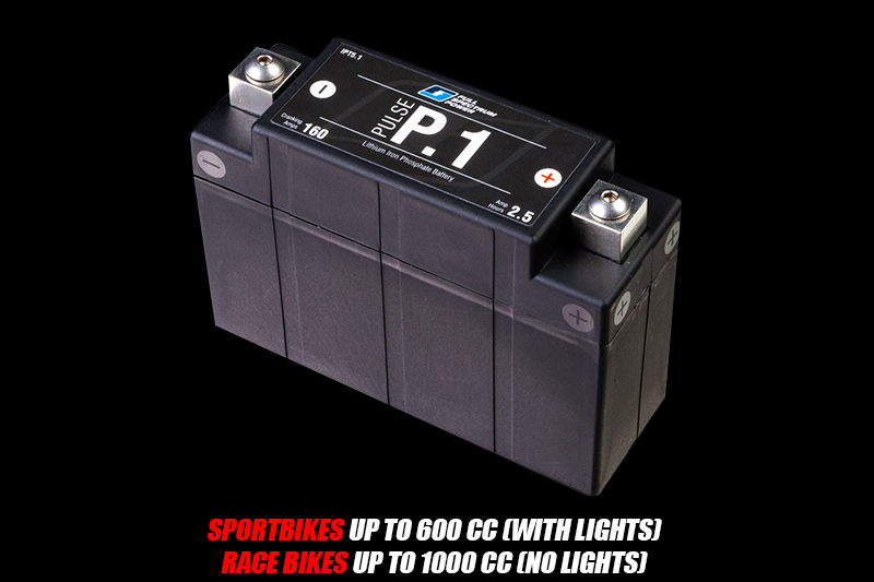 P1 Motorcycle Battery for up to 600 cc sportbikes