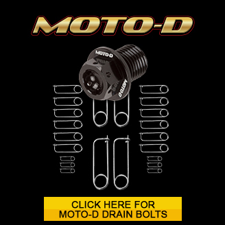 Buy pre-drilled for saferty wire motorcycle drain bolts on sale at MOTO-D