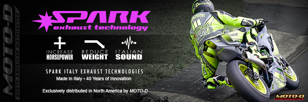 MOTO-D is the exclusive distributor for Spark Exhaust Systems
