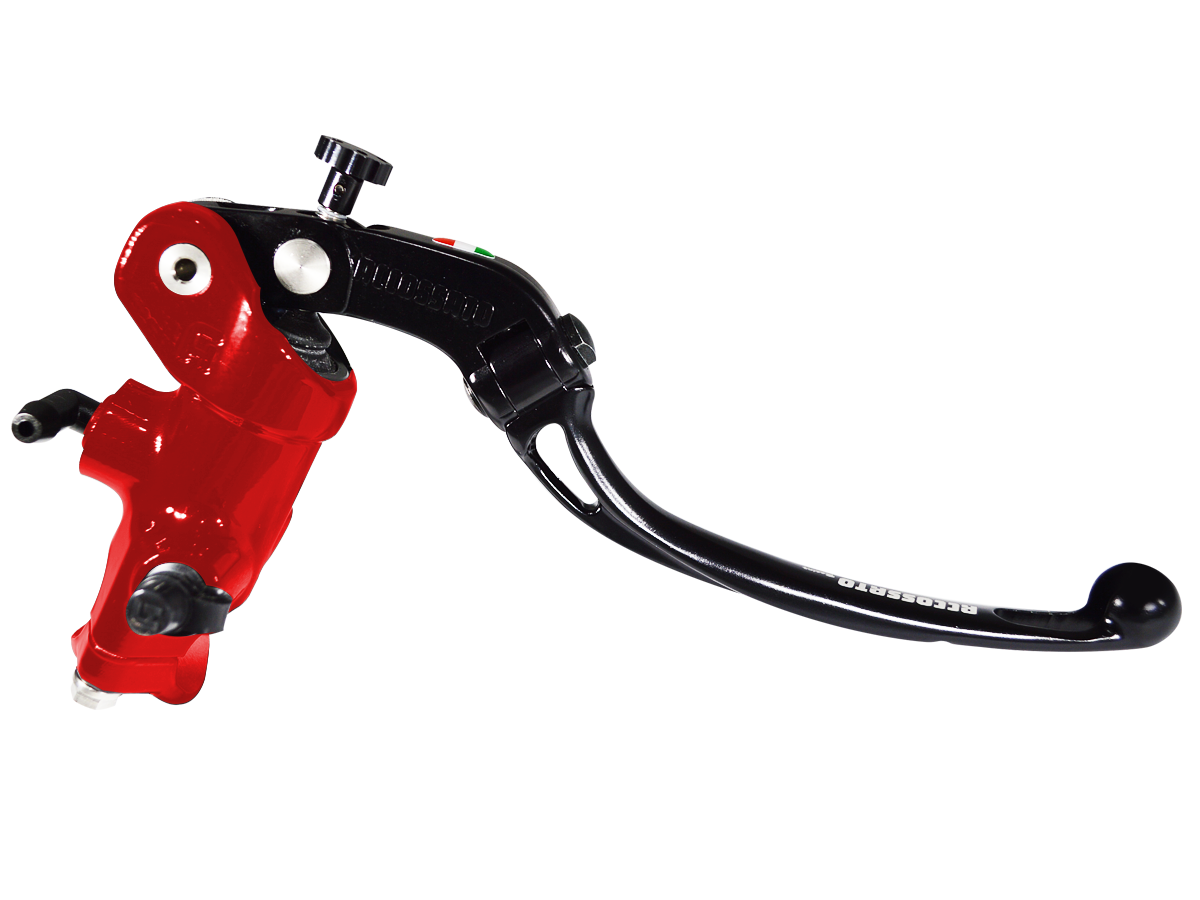 gloss red accossato master cylinder distributed by moto-d