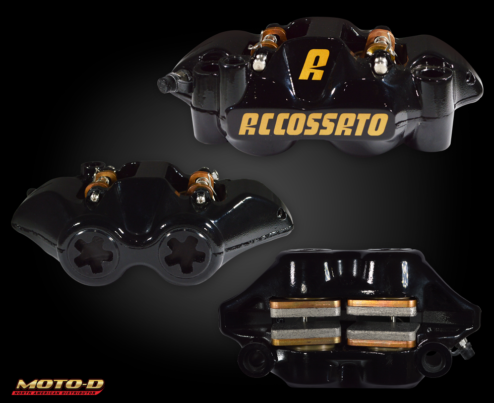 accossato black brake calipers at moto-d
