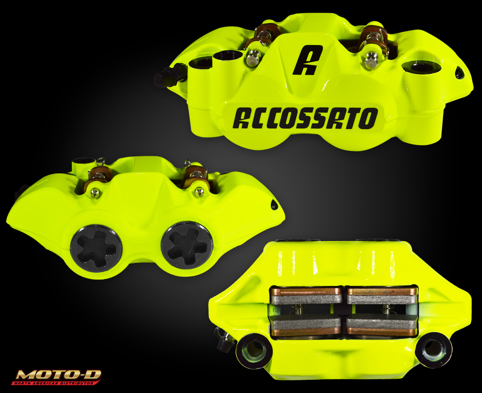 accossato yellow brake caliper at moto-d