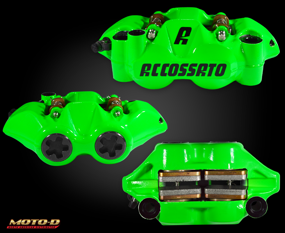 accossato green brake caliper at moto-d
