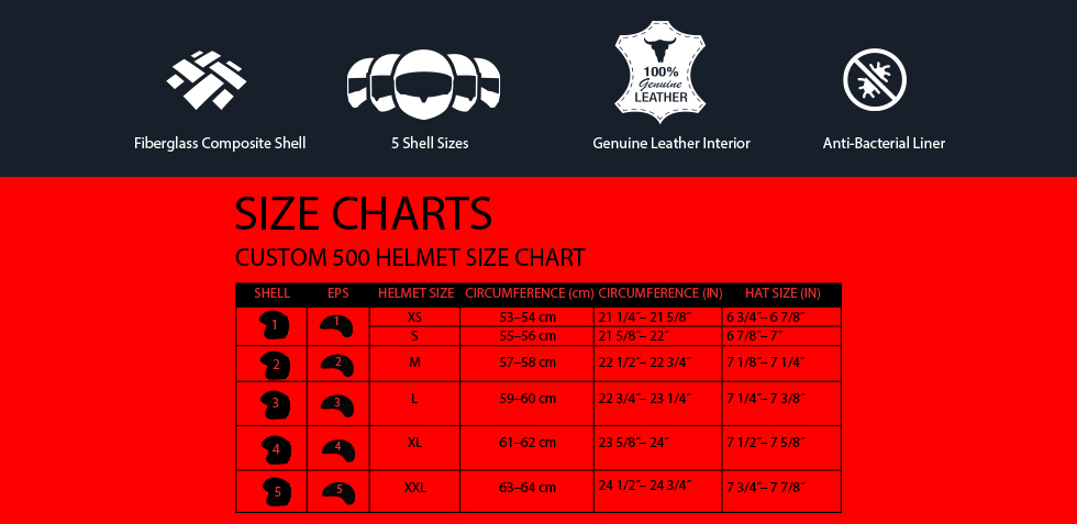 bell culture custom 500 size chart at moto-d racing