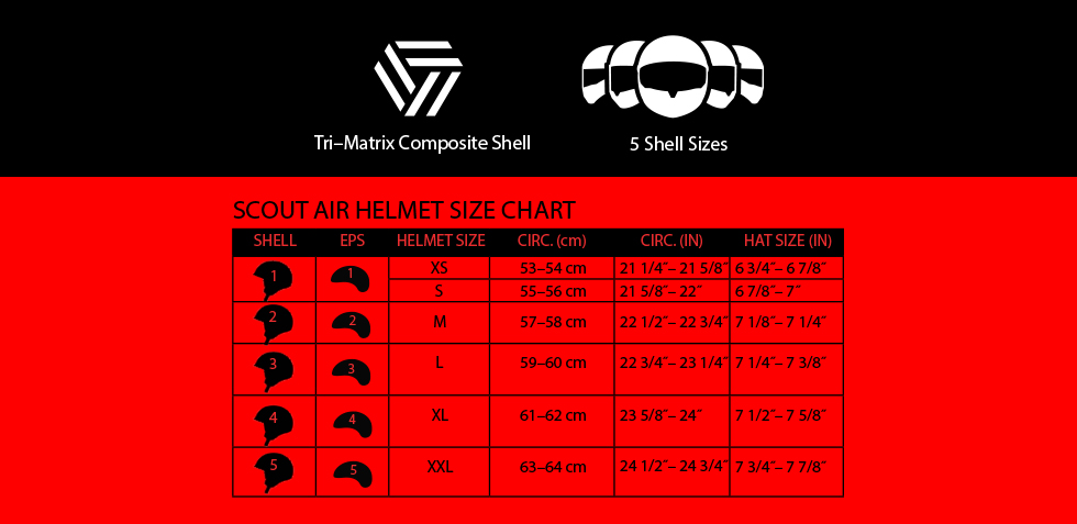 bell scout air size chart at moto-d racing
