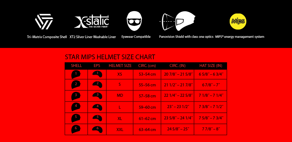 bell star mips size chart at moto-d racing