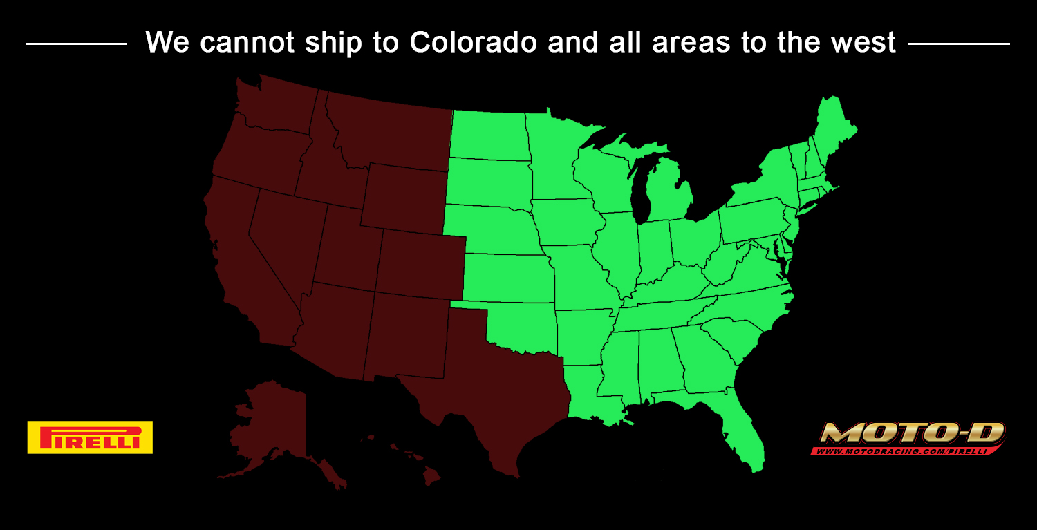 we cannot ship to colorado and all areas to the west