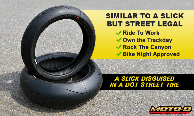 similar to slicks but street legal