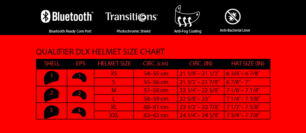 qualifier dlx mips size chart at moto-d racing