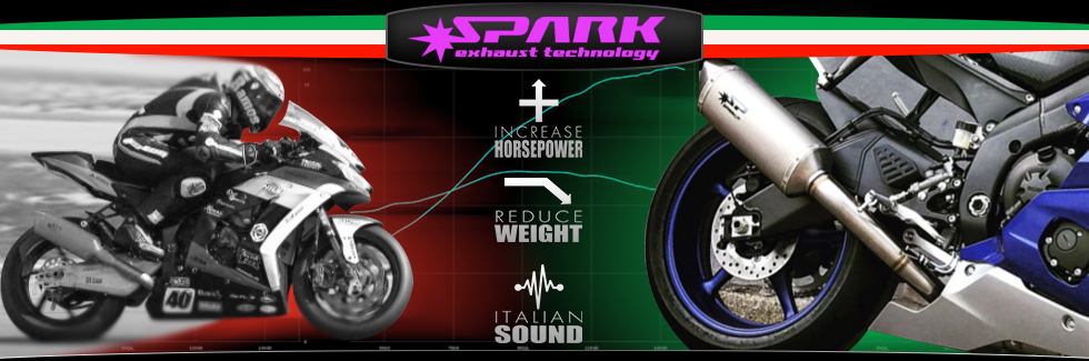 Spark Exhausts add power while making your bike sound better