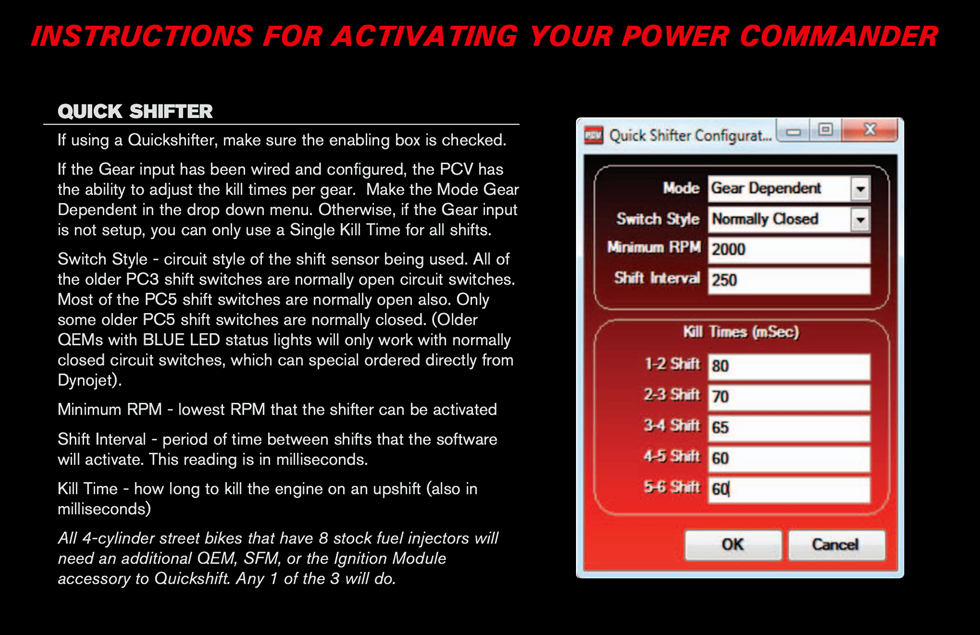 power Caommander V IRC Instructions
