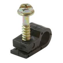 Cable Single Screw Clip, Single, Black