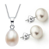 "Sterling Silver Freshwater Pearl Set ""My Dream"""