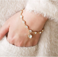 Imagination Crystal Heart Bracelet