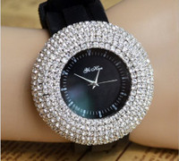 """Bling - Bling"" Women's Round Diamond Simulated Watch"
