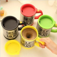 """Rainbow"" Stainless Steel Self-Stirring Mug"