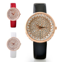 """Bling de Paris"" Luxury Leather Watch"