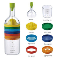 8-in-1 Multipurpose Bottle for Cooking: Squeezes Lemons, Grates Spices, Separator Eggs & MORE!