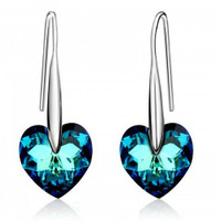 """Passion"" 18K Gold Plated Earrings with Swarovski Elements"