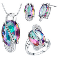 Sophia's Enchantment Silver Plated Jewelry Set