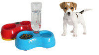 Pets Automatic Dual Water Drinking and Food Bowl