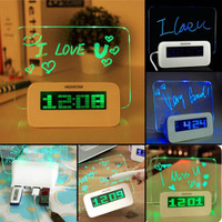 Fluorescent Message Board Clock and Pen