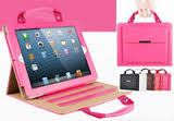 Leather Handbag Case for Ipads 2, 3, 4  in 5 Colors