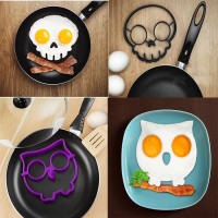 Set of 2 Funny  Skull and Owl Egg/Cookies Molds