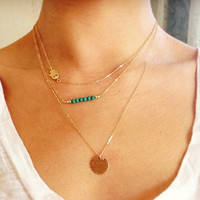 "Multilayer Necklace ""Peace"""