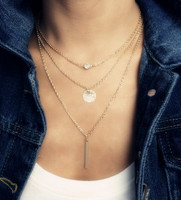 "Multilayered Crystal Necklace ""Inspire"""