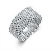 Sterling Silver Wire Mesh Ring