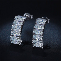 Sterling Silver Forever Stud Earrings