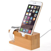 Bamboo Charging Dock for Apple Watch and iPhone