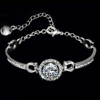 Perfect cut 3.5 ct CZ Swiss Bracelet