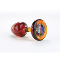 Amber Butt Plug w/Swarovski Crystals