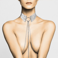 Desir Metallique Collection Silver Mesh Collar