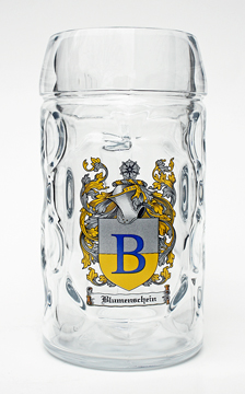 Half Liter Oktoberfest Beer Mug with Personalized Family Crest
