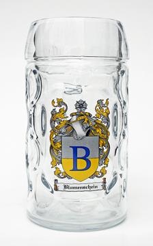 Half Liter Oktoberfest Beer Mug with Personalized Family Crest