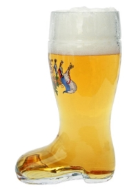 Personalized German Beer Boot Mug