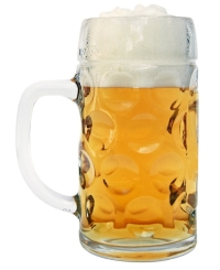 Personalized Glass Beer Mug with Dimples