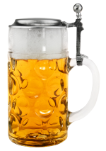 Oktoberfest Dimpled German Glass Beer Stein