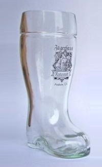 Restaurant Logo Printed on Glass Beer Boot