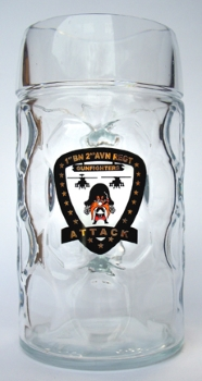 Beer Mug with Color Logo of Military Unit