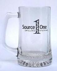 German glass beer mug with custom laser engraving