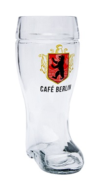 Custom logo application 1L glass beer boot