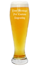 Personalized Beer Glass with Custom Message