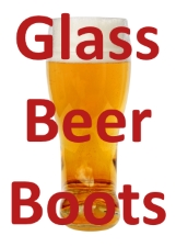 Laser Engravable Glass Beer Boot
